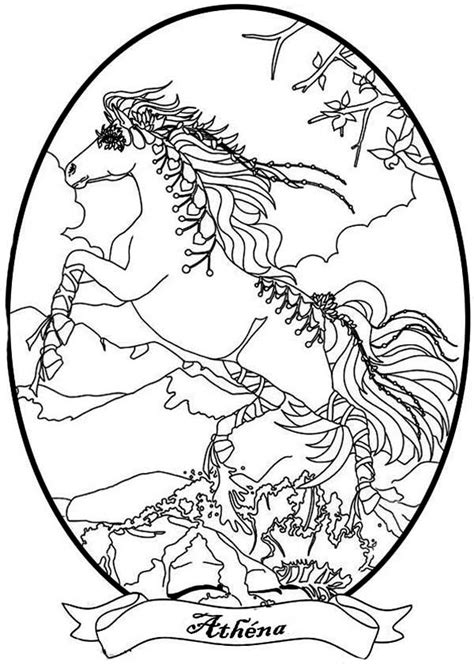 Magical Horses Coloring Pages | pin magical horses colouring pages on pinterest