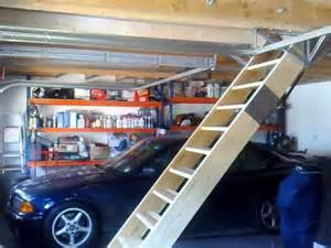 Pull Down Garage Stairs by Retracting Loft Staircase Youtube