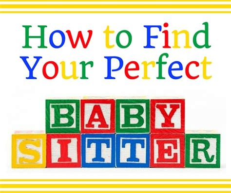 How To Find To Babysit How To Find A Burlingtonparents