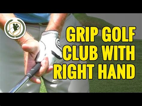 what do the hands do in the golf swing how to grip a golf club what does the right hand do