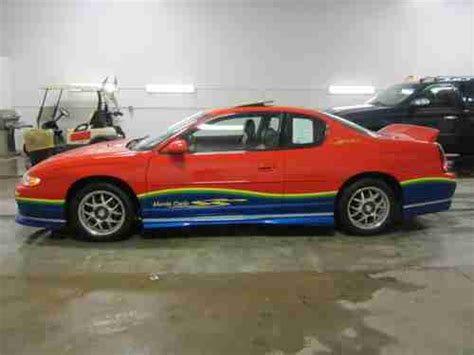 sell new 2000 chevy mont carlo ss orig 70 000 mi blk v6 leath pwr heated seats cold air in sell used 2000 chevrolet monte carlo ss coupe 2 door 3 8l jeff gordon nascar autographed in