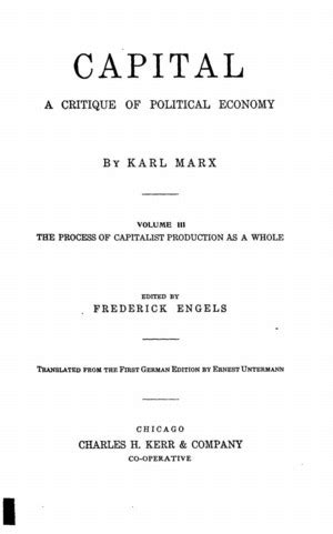 capital a critique of political economy the process of capitalist production classic reprint books capital a critique of political economy volume iii the