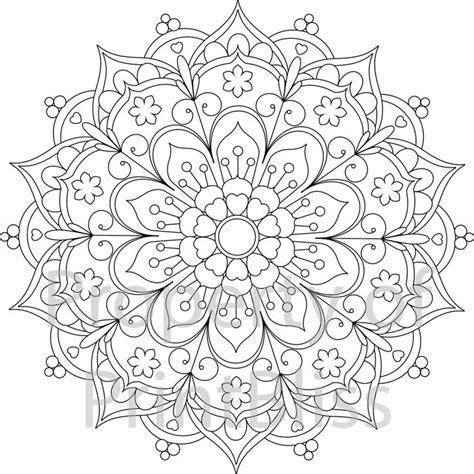 mandala coloring pages of flowers 25 best ideas about mandala printable on