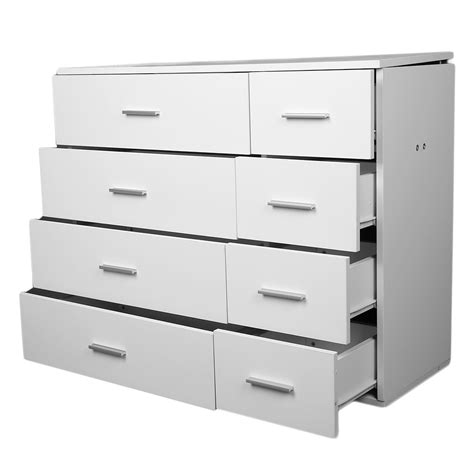 70cm Wide Chest Of Drawers by Wide Chest Of 4 4 Drawers Bedroom Furniture 8 Drawers