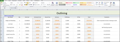 free excel construction templates best photos of residential construction budget template