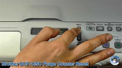 how to reset purge counter on brother dcp j315w printer brother dcp 135c how to reset purge counter