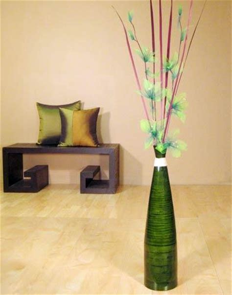 vase home decor 24 quot tall green bud floor vase decorative vases home d 233 cor