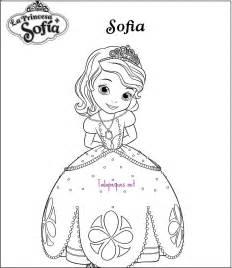 dibujos colorear princesa sof 237 todo peques