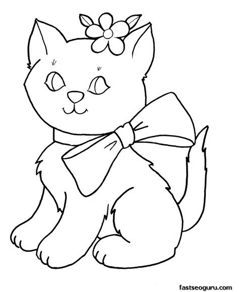 Coloring Page For Girls Az Coloring Pages Cat Coloring Pages For Free