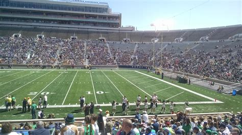 Notre Dame Stadium Sections by Notre Dame Stadium Section 25 Rateyourseats
