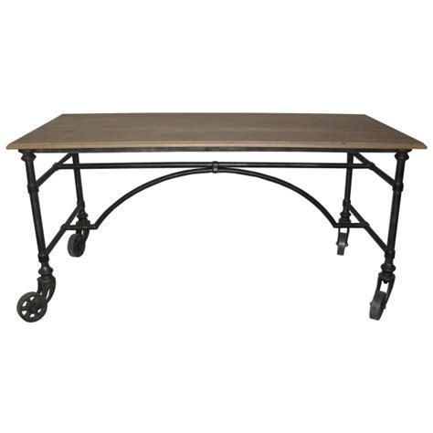 metal wood desk noir reclaimed metal wood desk