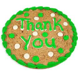 thank you baskets thank you cookie cake by gourmetgiftbaskets