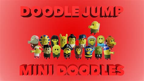 mini jeux doodle jump doodle jump mini doodles figure with exclusive mystery