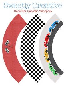 Race car party cupcake wrappers instant download printable digital car