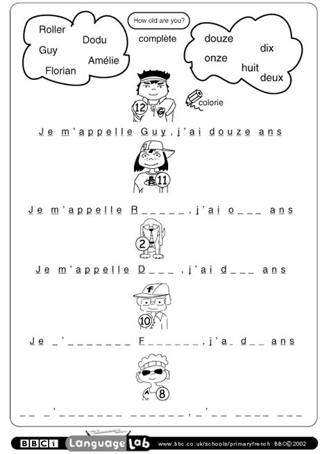 free printable english worksheets for primary 1 primary french printable worksheet