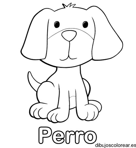 dibujo de cachorro con una flor en la boca para colorear dibujo de un cachorro con la palabra perro