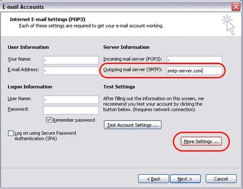 outgoing mail server smtp server