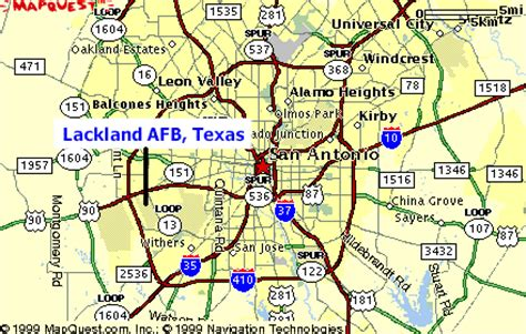 afb in texas map san antonio lackland map