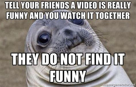 Awkward Seal Meme - awkward moment seal wants to help you express your