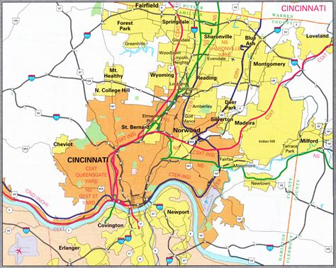 map of cincinnati cities rail all pictures