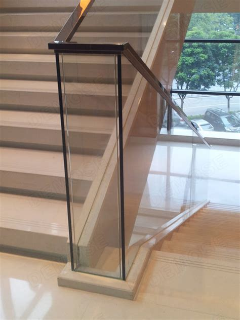 Metal Stair Banisters Glass Stair Railing Modern Staircase Other Metro