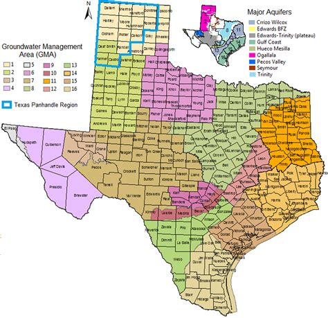 texas agriculture map agrilife research study identifies contributing factors to groundwater table declines agrilife
