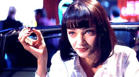 in kill bill why does umas hair go from short to long yes uma thurman s fave chanel nail polish in pulp fiction