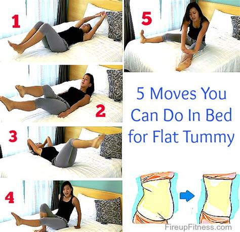 in bed workout 5 moves for flat tummy you can do in your bed flat