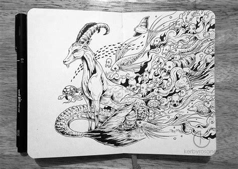Moleskine Doodles Capricorn By Kerbyrosanes Deviantart