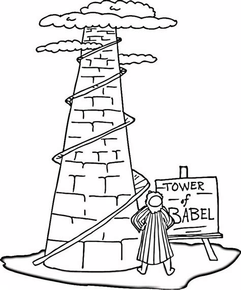 Towers Coloring Page Tower Of Babel Coloring Page Az Coloring Pages by Towers Coloring Page