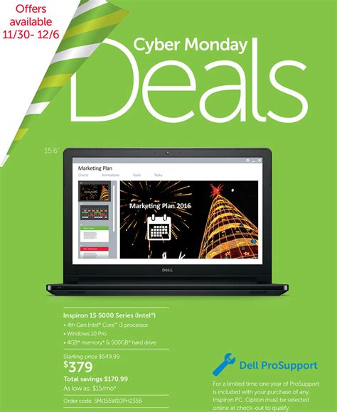 Dell Deals by Cyber Monday 2015 Dell Small Business Ad Scan Buyvia