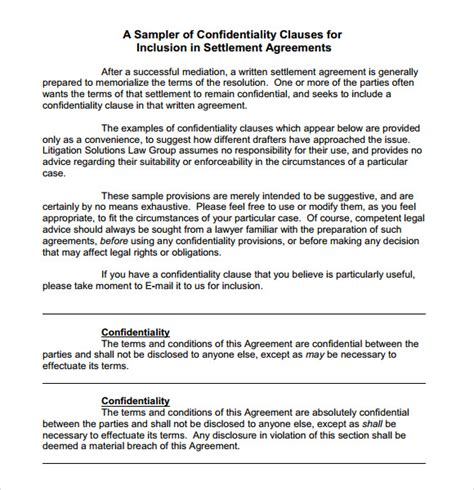 confidentiality policy template sle confidentiality agreement 6 documents in pdf