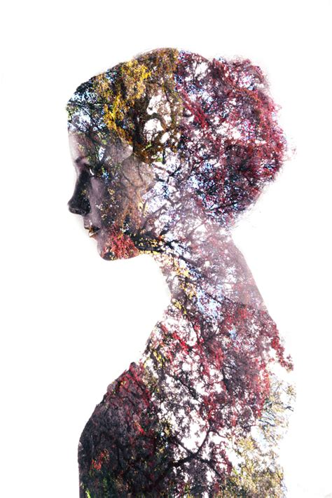 black pattern double color exposure double exposure portraits a simple tutorial for making