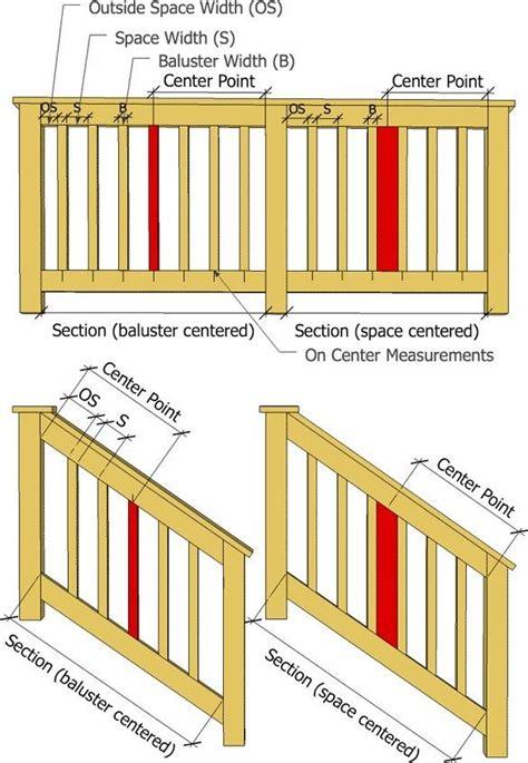 wood deck railing post spacing deck baluster spindle spacing calculator decks