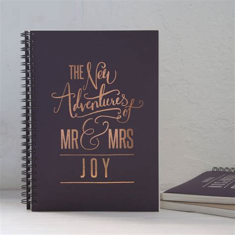 Wedding Gift Book by Personalised Wedding Gift Memory Book By So They Made