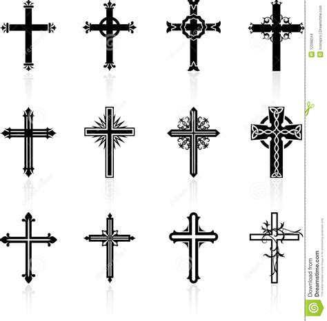 religious cross design collection stock images image