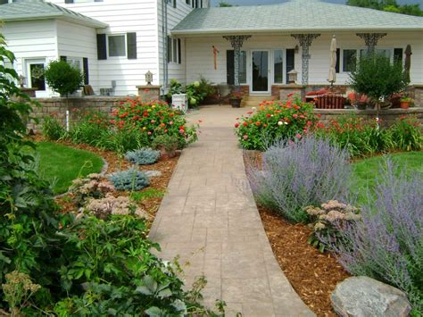sidewalk plantscape oasis landscapes west fargo