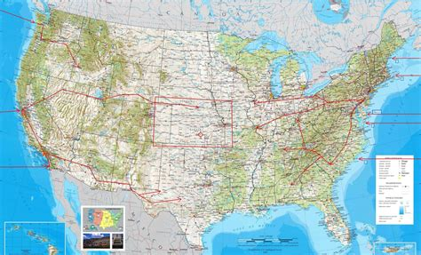 physical usa map map of the united states