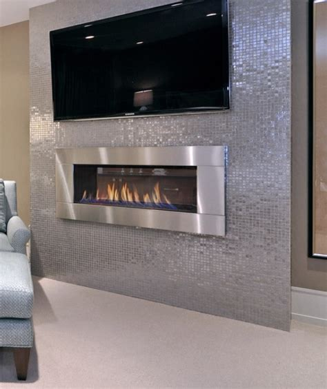 modern ventless fireplace basement time