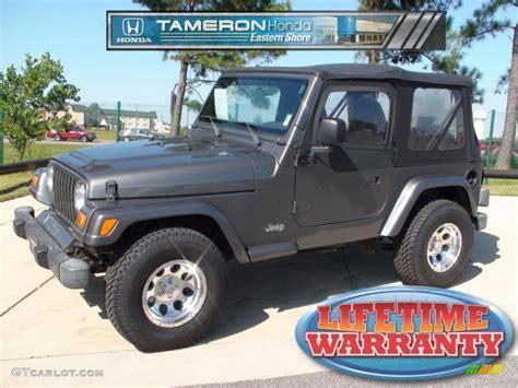 gunmetal jeep 1999 gunmetal pearlcoat jeep wrangler sport 4x4 37322571