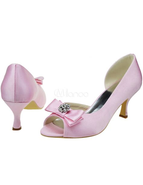 brautschuhe in rosa brautschuhe aus satin in rosa milanoo