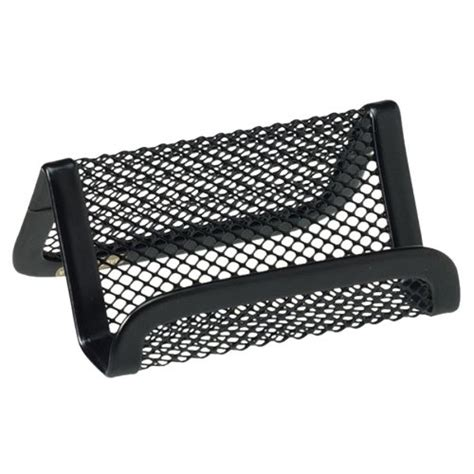 Business Desk Accessories by Rolodex Mesh Collection Business Card Holder Black