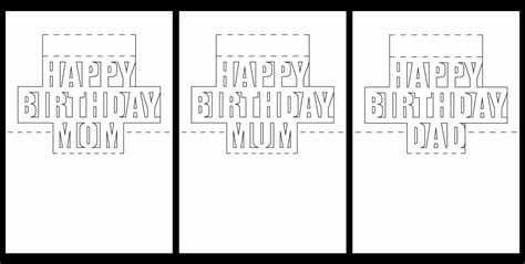 29 Inspirational Free Printable Pop Up Birthday Card Templates Minifridgewithlock Com Pop Up Cards Templates Free