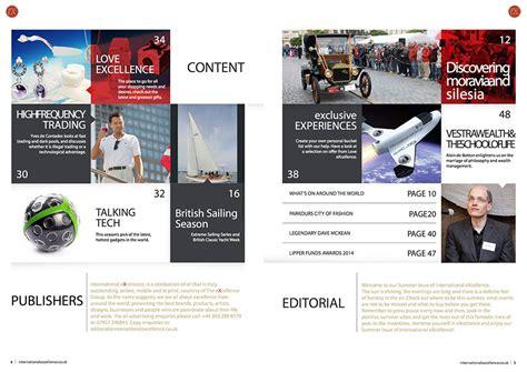 event magazine layout the excellence group luxury pr uk pr brand marketing