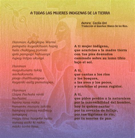 poemas cortos de indijenas poema a todas las mujeres ind 237 genas de la tierra