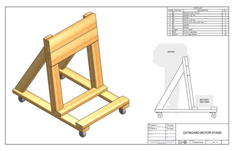 how to build an outboard motor stand outboard engine stand plans diy the
