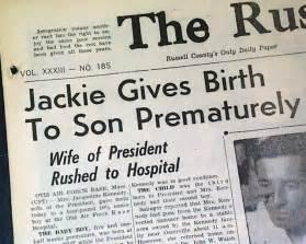 Patrick Bouvier Kennedy patrick bouvier kennedy birth rarenewspapers com