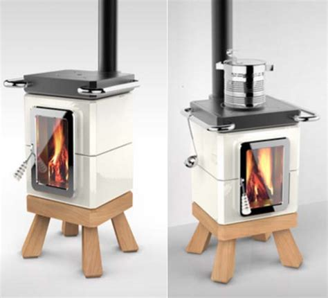 idea for wood furnace design adriano design presents cookingstack wood stove and
