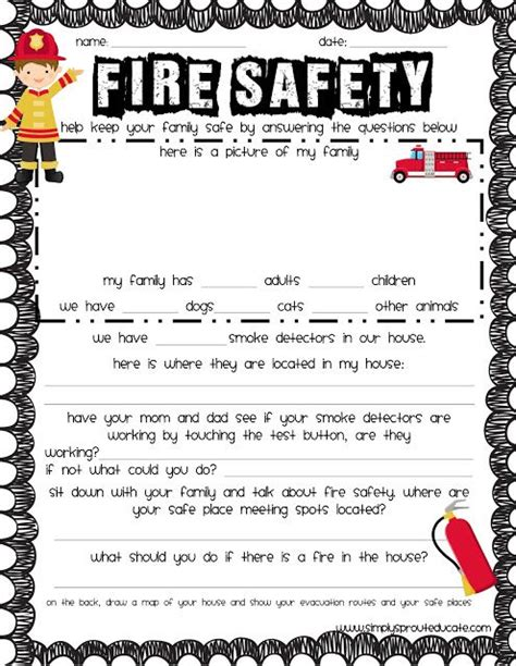 free fire safety printable homeschooling pinterest