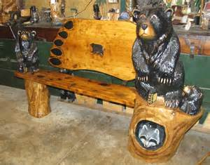 Bear tracks chainsaw carving chainsaw carvings bears